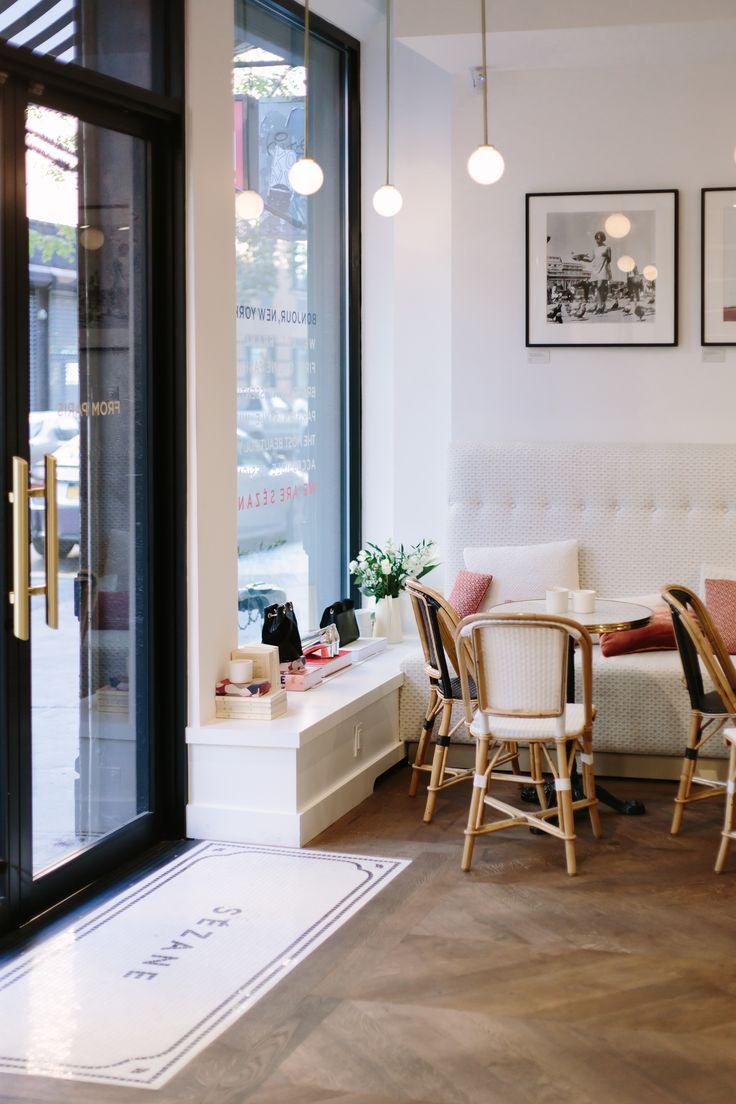 NYC Guide Sézane Restaurant interior design, Cafe