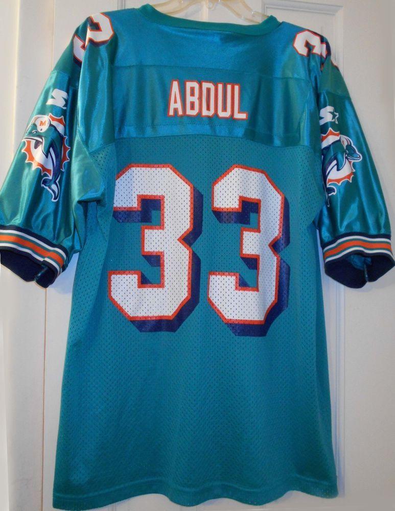 newest fa9b5 e9c87 Details about Vtg 1998 NFL MIAMI DOLPHINS #33 ABDUL Karim ...