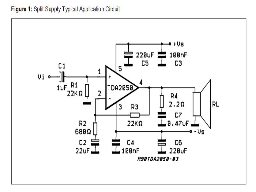 32 watt stereo amplifier circuit