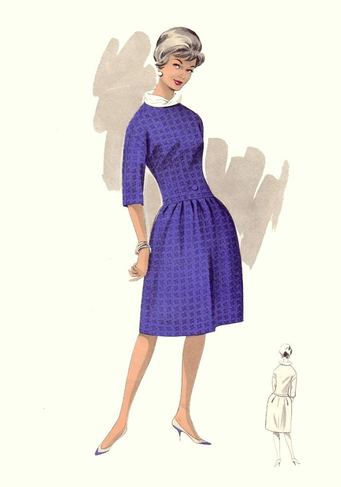 Full Skirted 1960s Day Dress | Hairspray | Pinterest | Años 40 ...