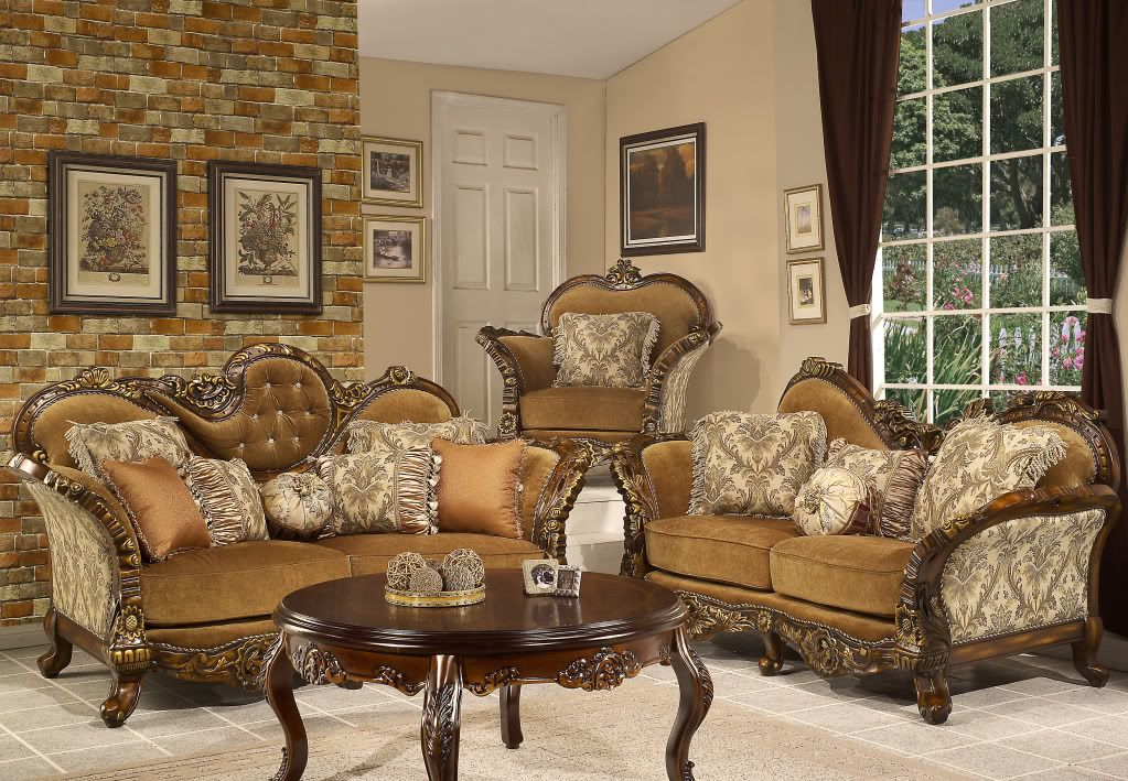 Traditionalstyle Formal Living Room Traditional Style Formal Seating Collection Elegant Living Room Furniture Victorian Living Room Glamorous Living Room