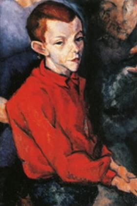 Boy in a Red Shirt, 1909 by Lajos Tihanyi (Hungarian 1885-1938)