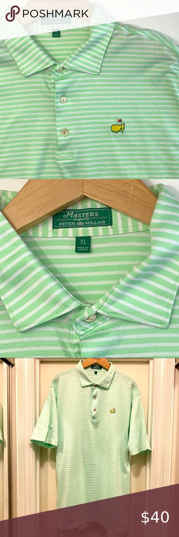 Masters Polo by Peter Millar Mens XL in 2020 Mens xl