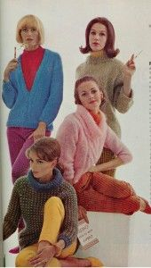 Mod Vintage 1963 Fluffy Mohair Sweaters