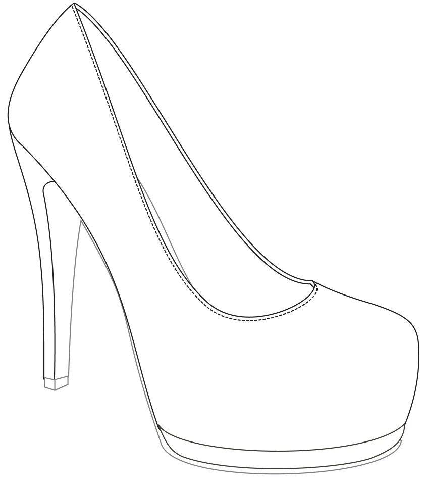 Vans Shoe Design Blank Template