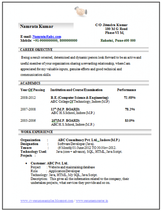 Professional Curriculum Vitae Resume Template For All Job Seekers Sample Template Of An Exce Engineering Resume Engineering Resume Templates Computer Science