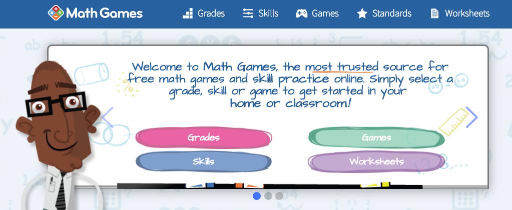 Online math games for kids of all grade levels. Worksheets