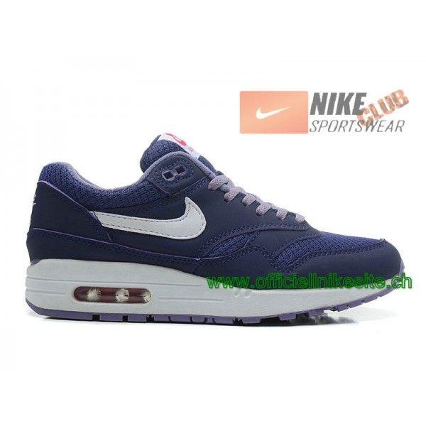 new product d6c9c 75413 Nike Air Max 1 87 Essential iD GS Chaussures Officiel Nike Pour Femme Bleu  599820