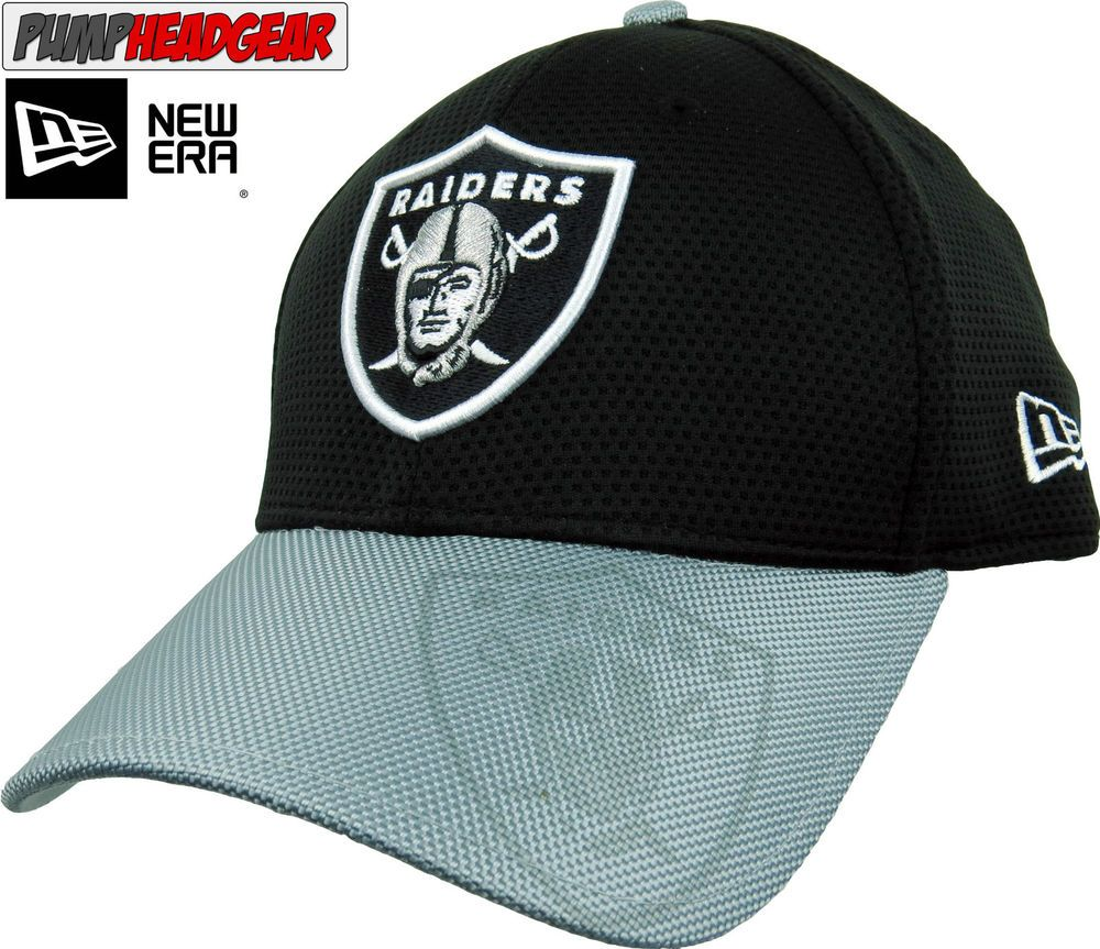 47713b725fe3b Oakland Raiders New Era 3930 NFL Sideline Stretch Fit Cap