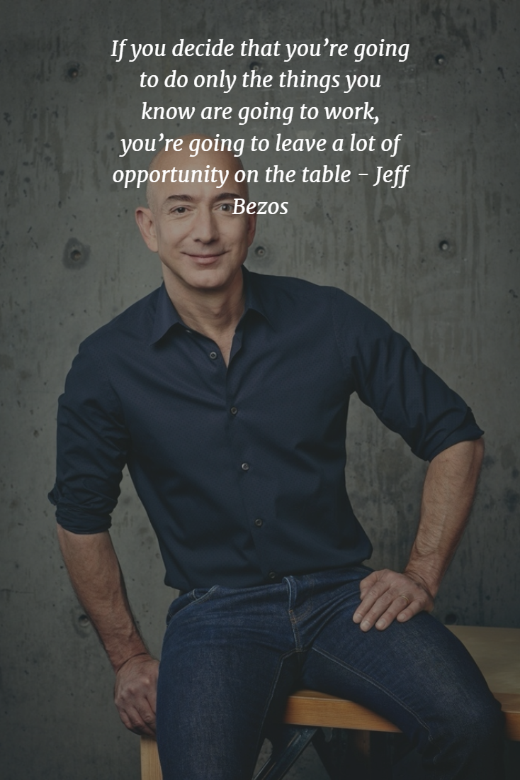 Do Not Leave An Opportunity By Jeff Bezos Building An Empire