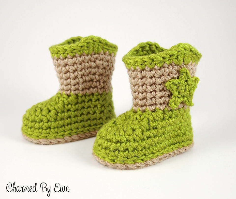 Baby Cowboy Slipper Boots Crochet Patterns Pinterest
