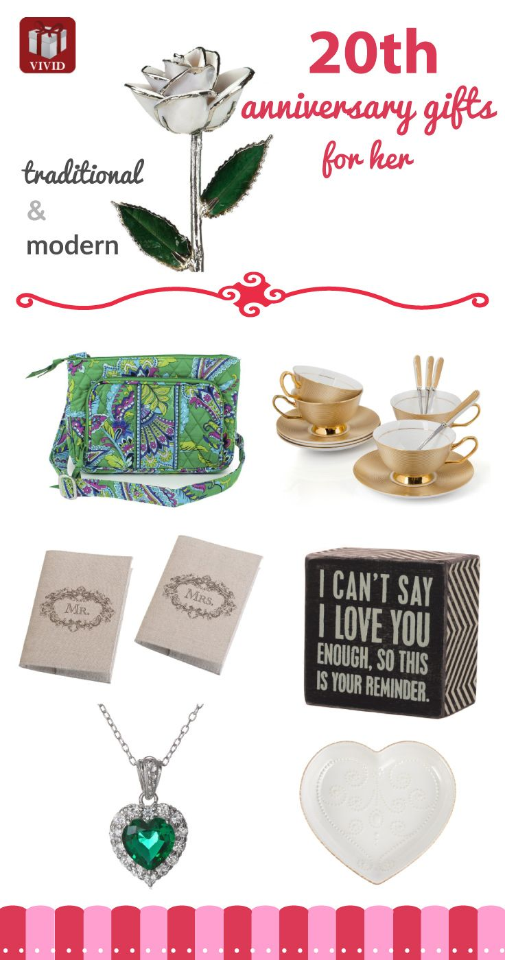 Best 20th Anniversary Gift Ideas for Her 20th