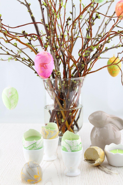 Oster-DIY] Ostereier marmorieren mit Nagellack | Marmorieren ...