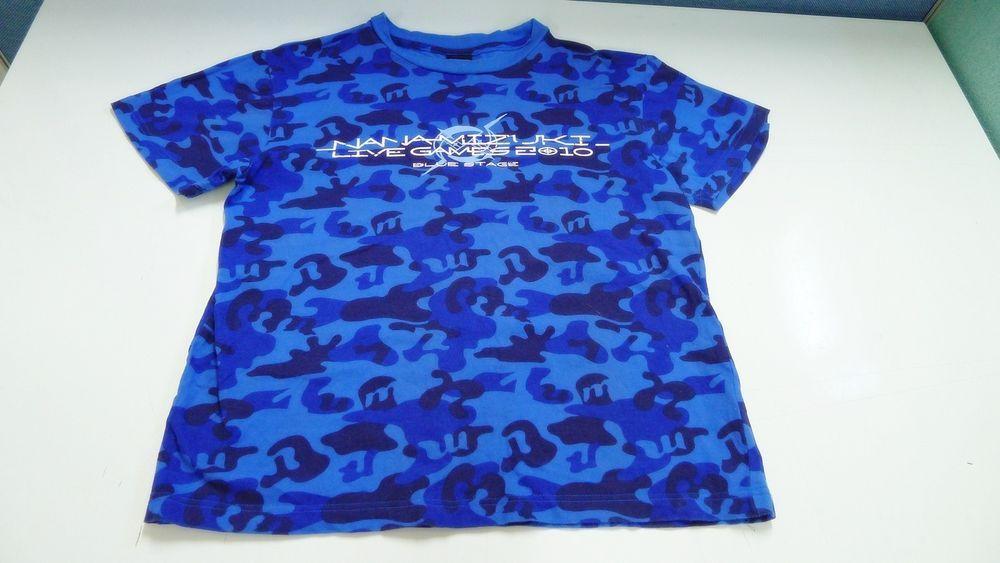 Men's t-shirts Nana Mizuki LIve Games 2010 Blue Stage Camo Pattern