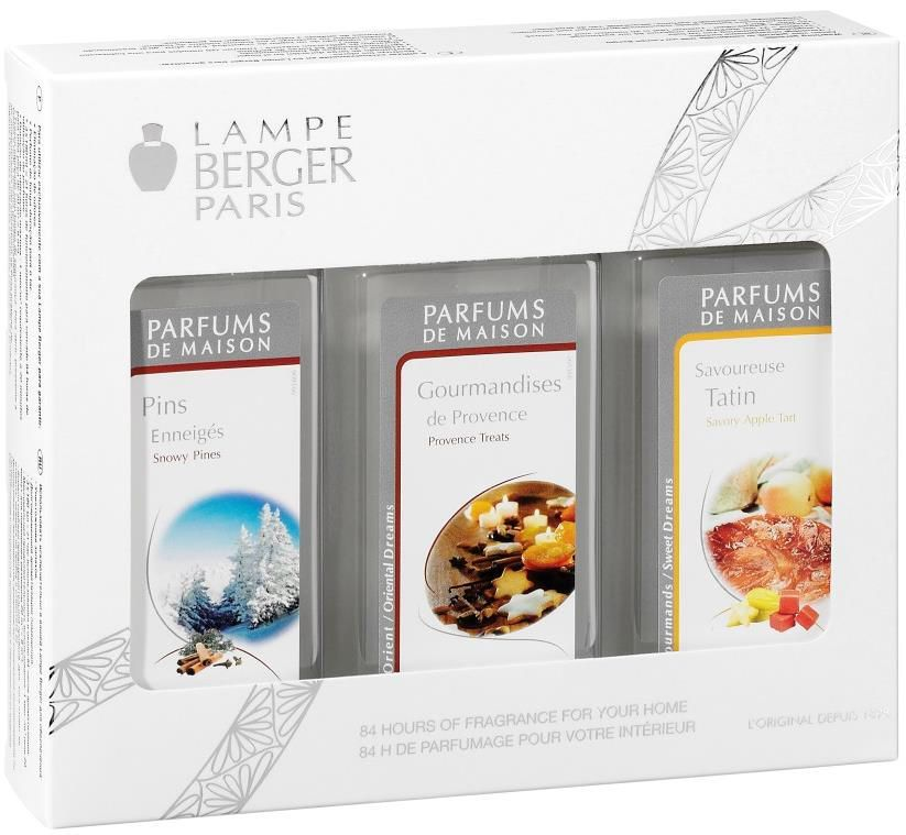 Cute Lampe Berger Trio Pack x ml fragrances Snowy Pines Provence Treats u Savoury