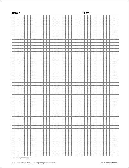 Lion Cub School Homeschool Math - Free Printable Graph Paper