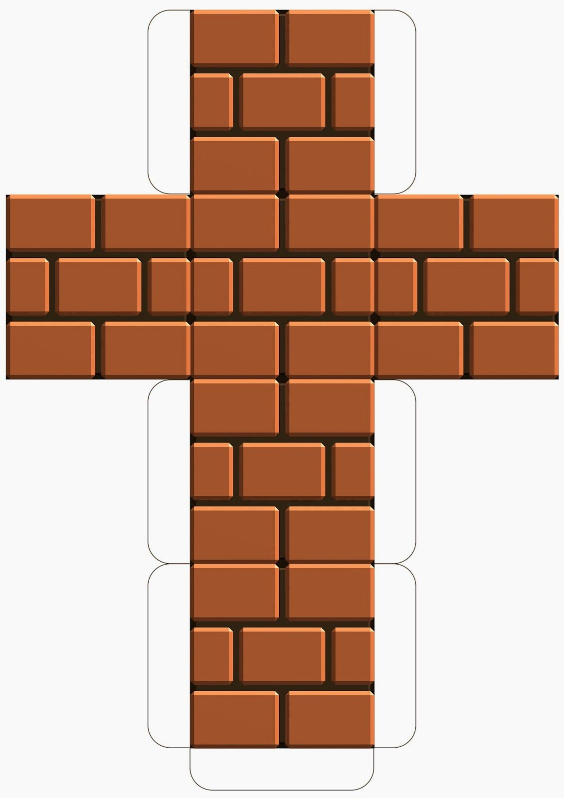 Super Mario Downloadable Brick Block Template | Super Mario birthday ...