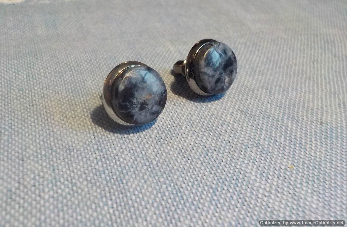 earrings pietersite diameter stud namibian new pin backings natural silver stone mm plated