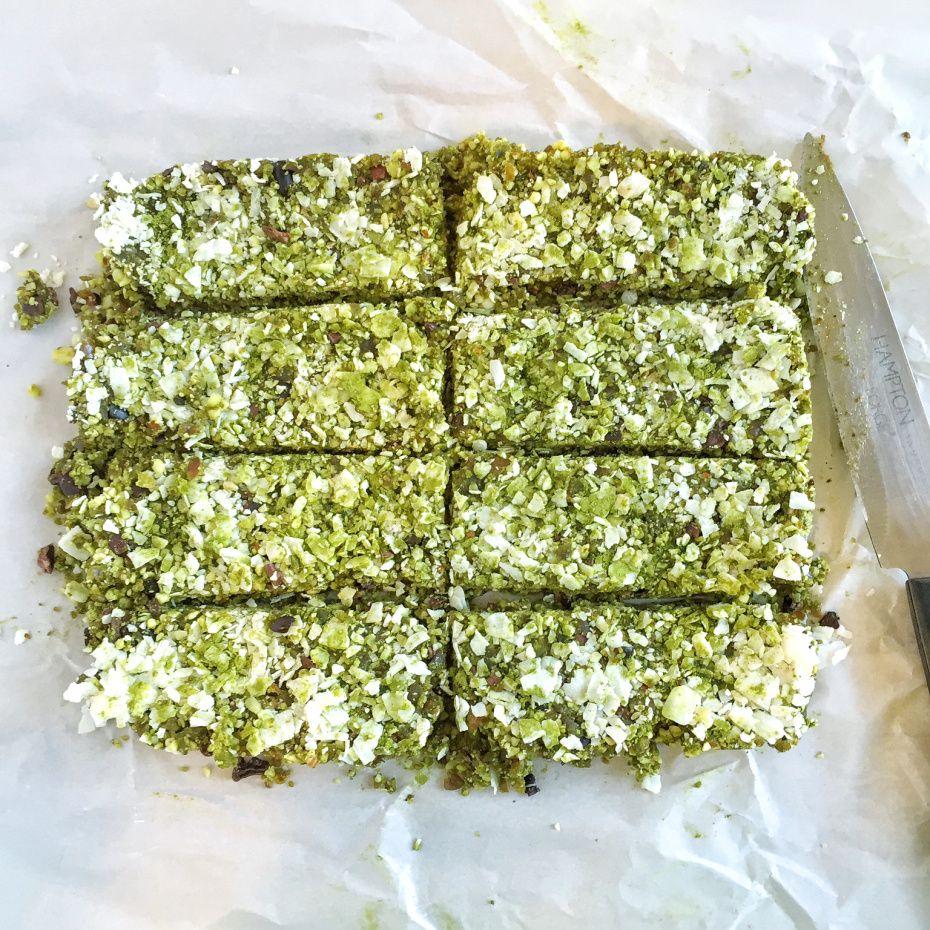 Coconut matcha energy bars recipe food energy bars