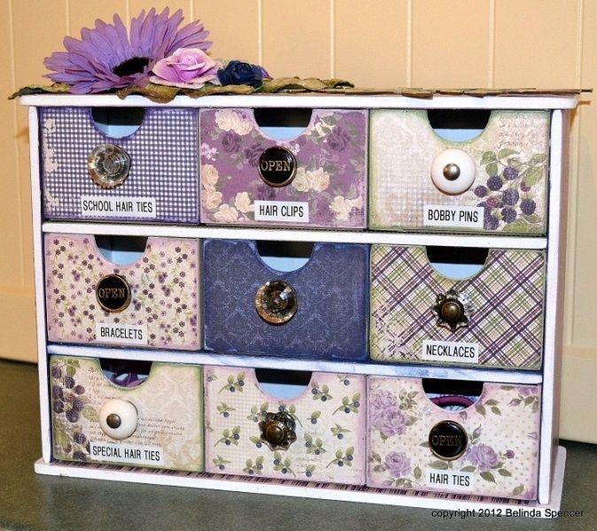 T cnicas de scrapbooking ii cajas cajas decoradas y madera - Caja joyero ikea ...