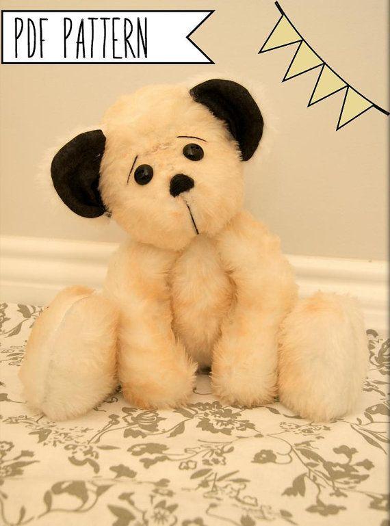 Pdf sewing pattern Cute Teddy Bear Plush Stuffed Doll Toy Mascot ...