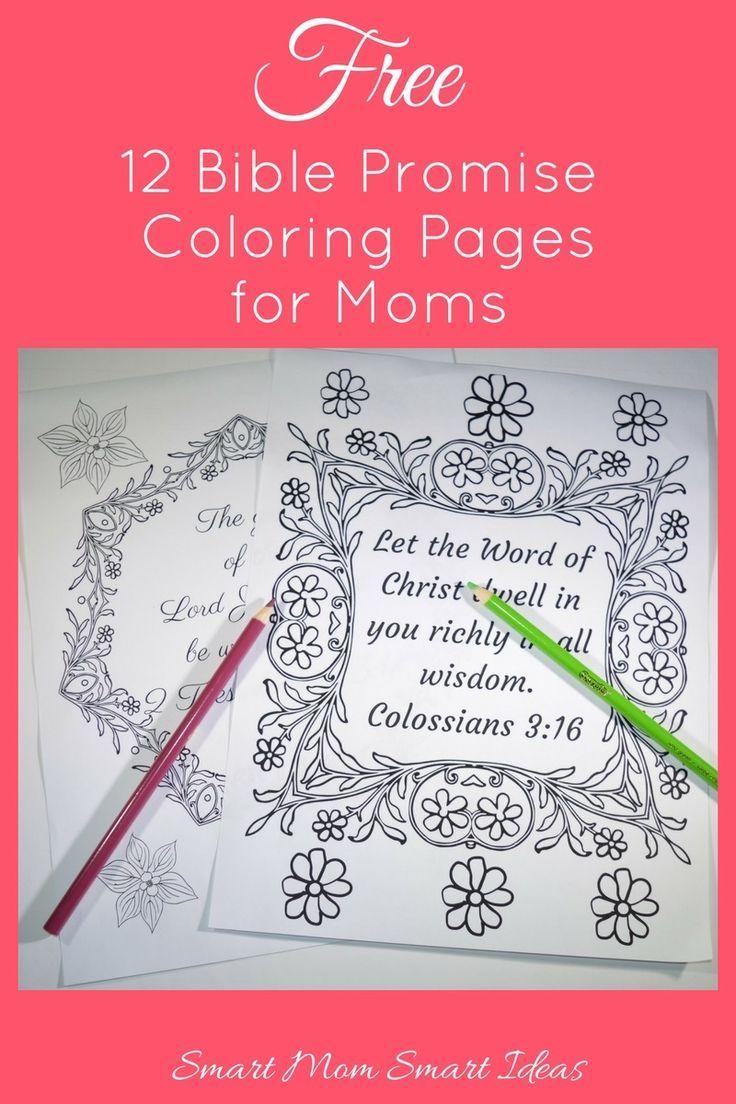 Encouraging Coloring Book for Moms   Colorear