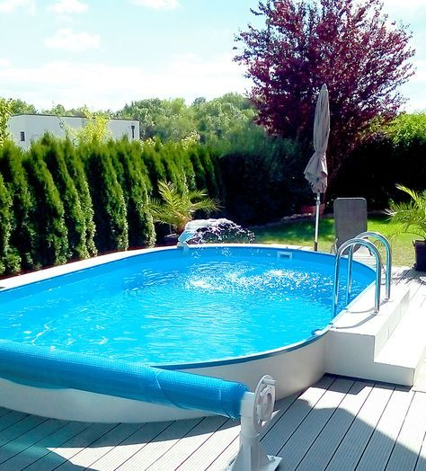 Der Sommer-Traum für den eigenen Garten: Genießen Sie die Abkühlung vor dem Eigenheim! #gartenpool #pool #schwimmbecken #garten #swimmingpool #poolimgartenideen