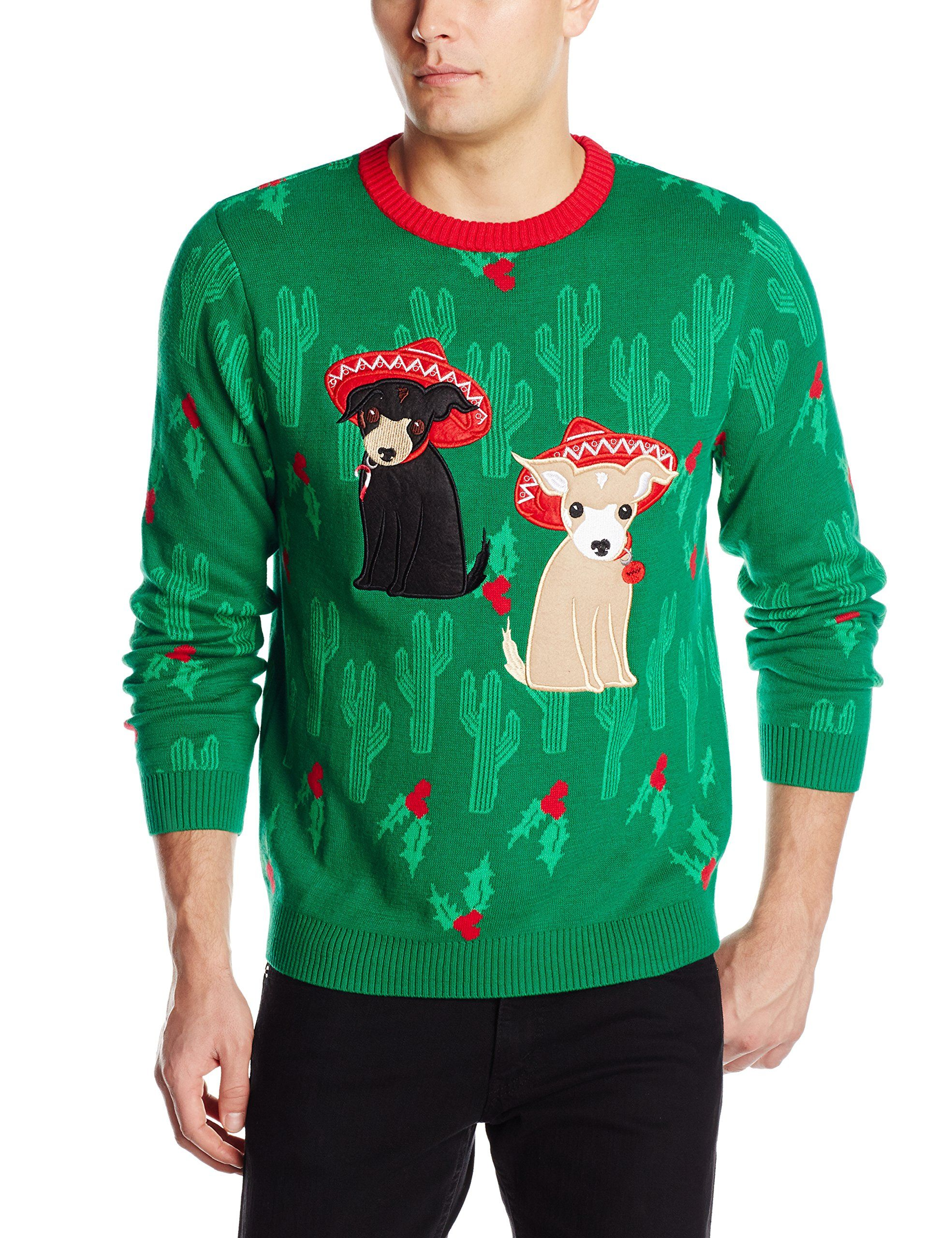 f92db03af32a Alex Stevens Men s Merry Chihuahua Ugly Christmas Sweater at Amazon ...