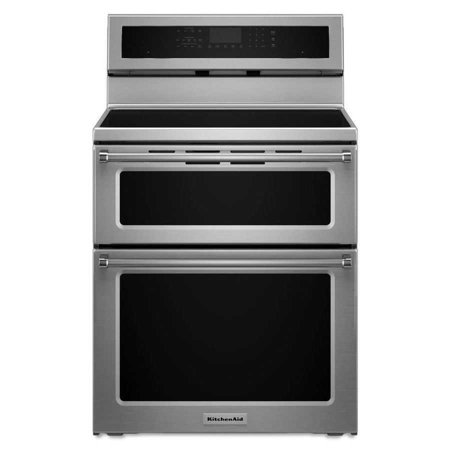 KitchenAid YKFID500ESS 30 In 4 Element 6.7 Cu Ft Freestanding Induction  Range