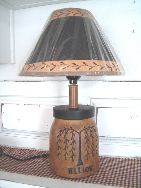 Primitive Country Lamps | Decor   Table Lamps   Country Quackers Primitives  Primitive Country .