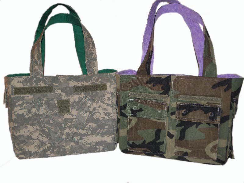 Two Army Wife Handbags One In Acu Bdu By Bellalise Designs