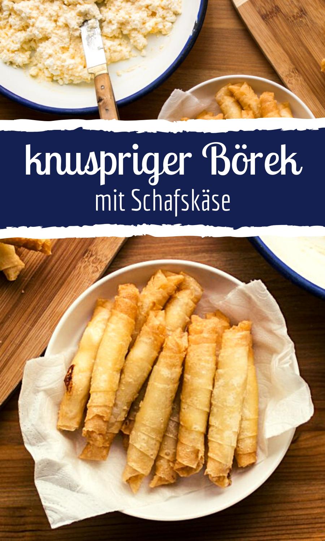 Knuspriger Borek Mit Schafskase Fullung Borek Mit Schafskase Fingerfood Rezepte Rezepte