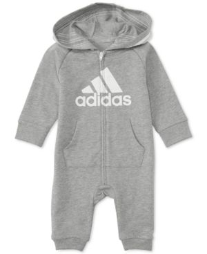 2cc9c2ea3 adidas Baby Boys 1-Pc. Footless Full-Zip Coverall - Red 6M ...