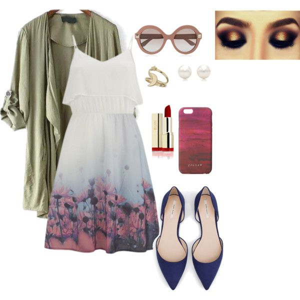 A fashion look from September 2015 featuring Vero Moda dresses, Zara flats and Tiffany & Co. earrings. Browse and shop related looks.