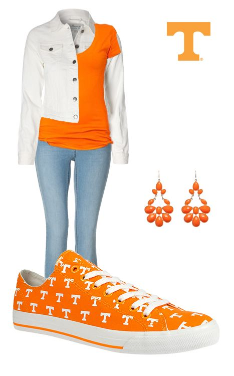 Our Tennessee kicks are the perfect addition to your Vols Game Day gear! #RowOneBrands #LiveLifeInRO #Tennessee #Volunteers #kicks #GameDay #Outfit #NCAA