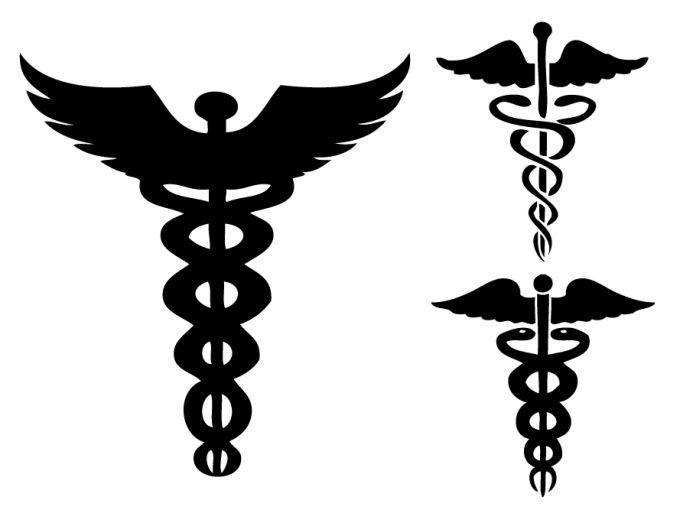 caduceus an ancient symbol traditionally associated with medicine rh pinterest co uk Operating Room Nurse Nurse Symbol Caduceus Tattoo