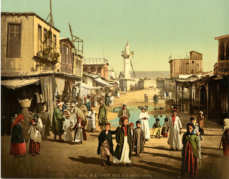 Port Saïd. Rue dans le quartier arabe.    #Afrique_Africa #Egypte