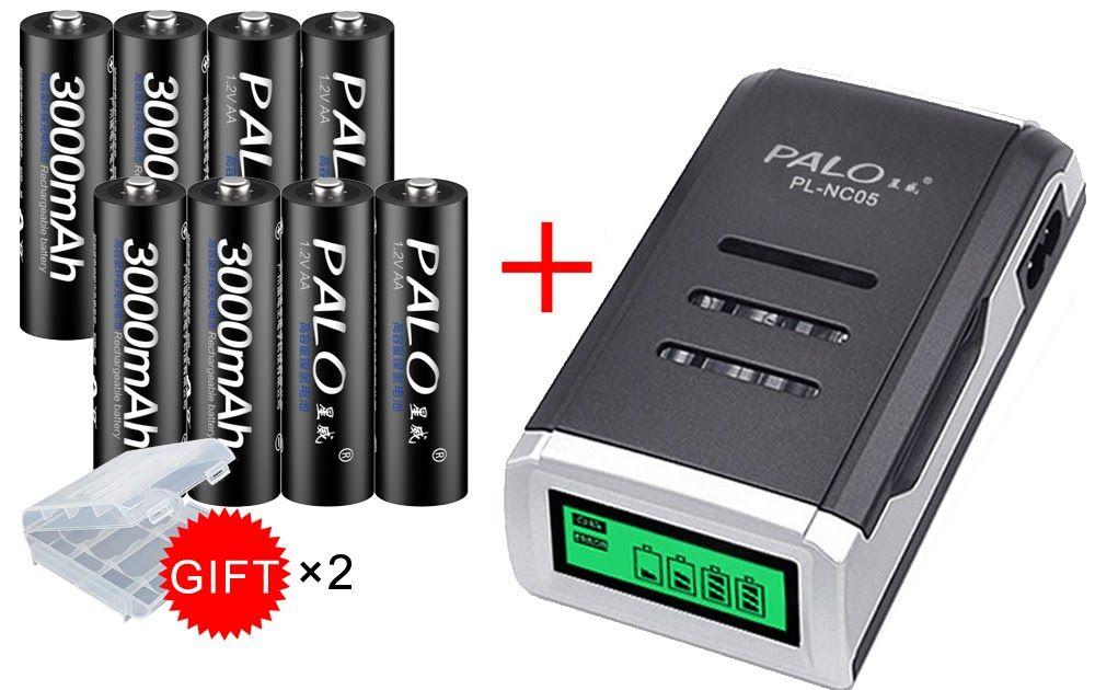 Best Price Palo 8pcs Aa 3000mah Ni Mh 1 2v Rechargeable Batteries Aa Battery Battery Rechargeab Aaa Battery Charger Nimh Battery Charger Rechargeable Batteries