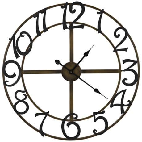 Cooper Classics Lasalle 25 1 4 W Metal Wall Clock Y3461 Lamps Plus Black Wall Clock Metal Wall Clock Wall Clock