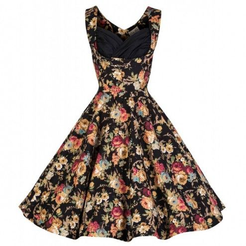 fe28c0d1b6c8 Lindy Bop Ophelia Floral 50's Dress Black An early birthday present given  to me by my friend Nicolien <3 <3 <3