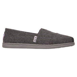 51fd754a0381 Skechers Women s Bobs Bliss Hot Cocoa Memory Foam Slip On Shoes (Charcoal)