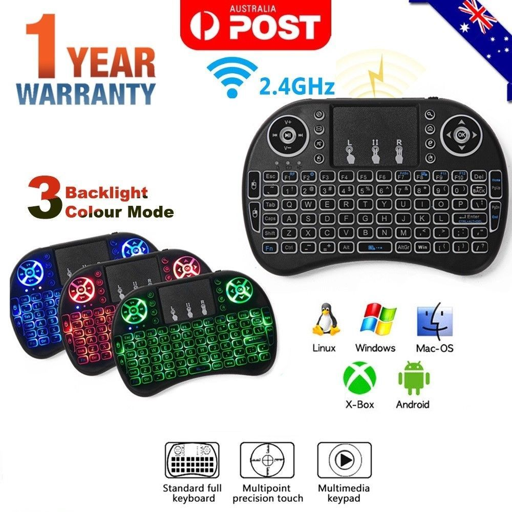 Details about Mini Wireless Remote Keyboard Mouse for