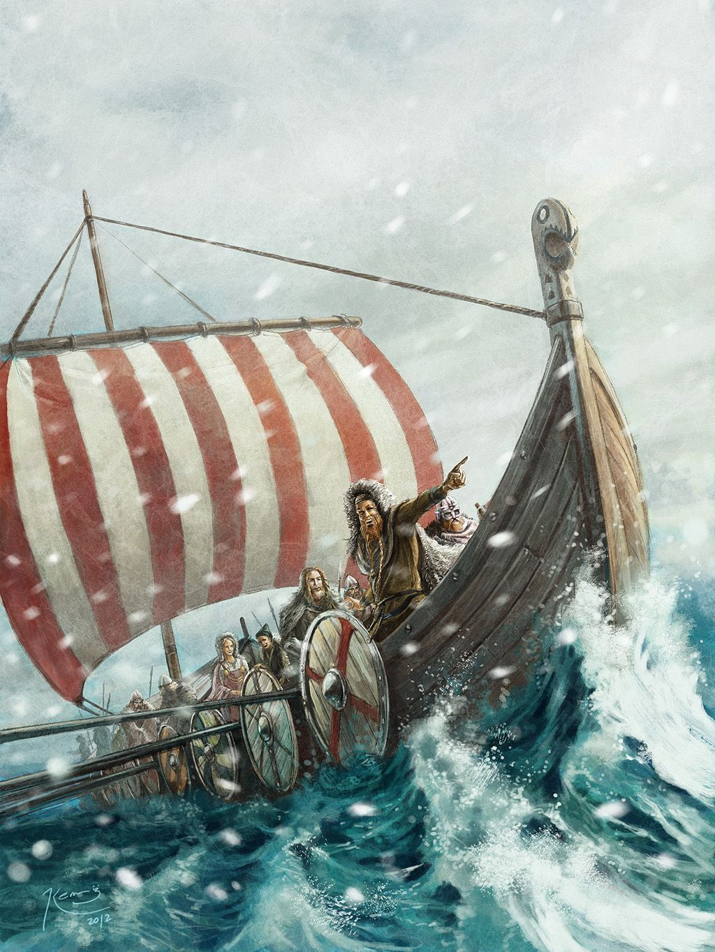 vikings on the green land by gonzalokenny.deviantart.com ...