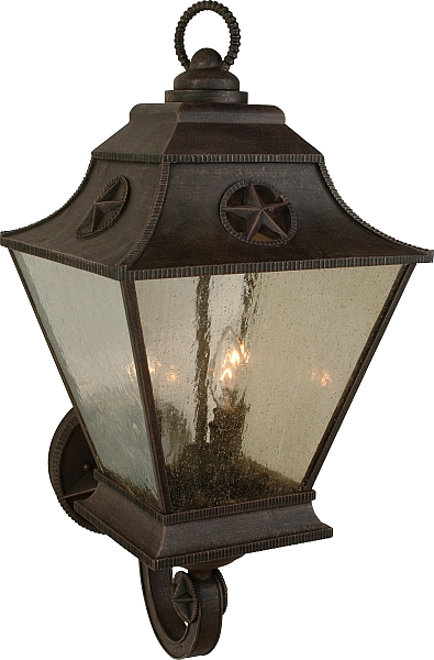 Exteriors By Craftmade Outdoor Chaparral Large Wall Mount In Rust See All Popular Light Fixtures And Get Home Lighting With Images Outdoor Sconces Outdoor Walls Craftmade
