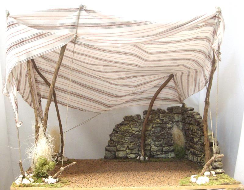 Tenda araba per statue grandi capanne per presepe semprini arredi