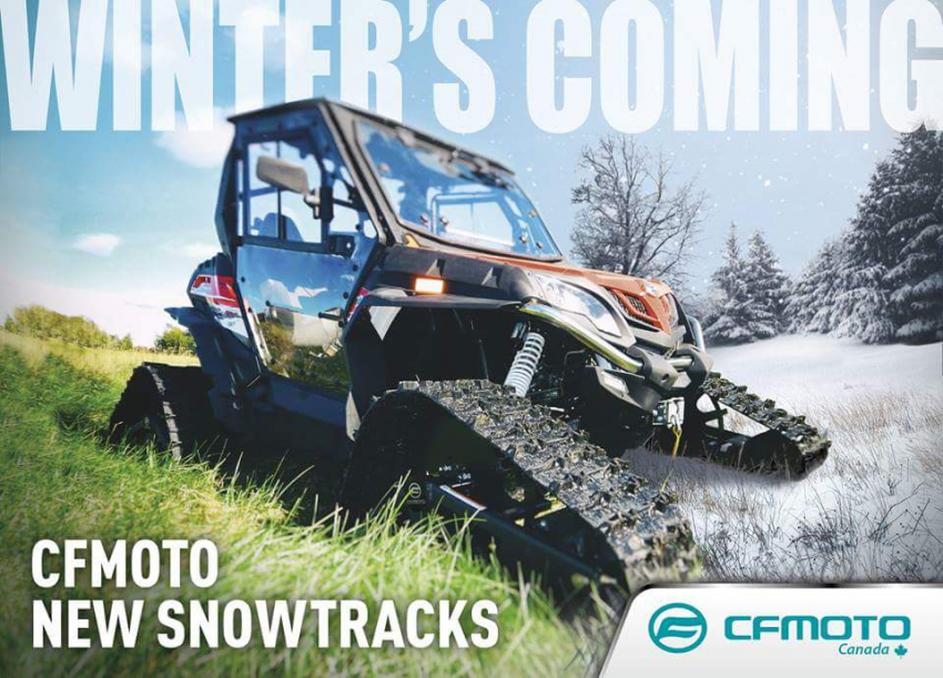CFMoto now has it's own brand of snow tracks! - General Discussion
