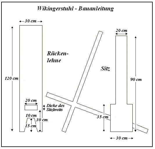 wikingerstuhl selber bauen