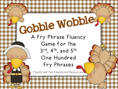 Fluency game with phrases using #300-500 Fry words