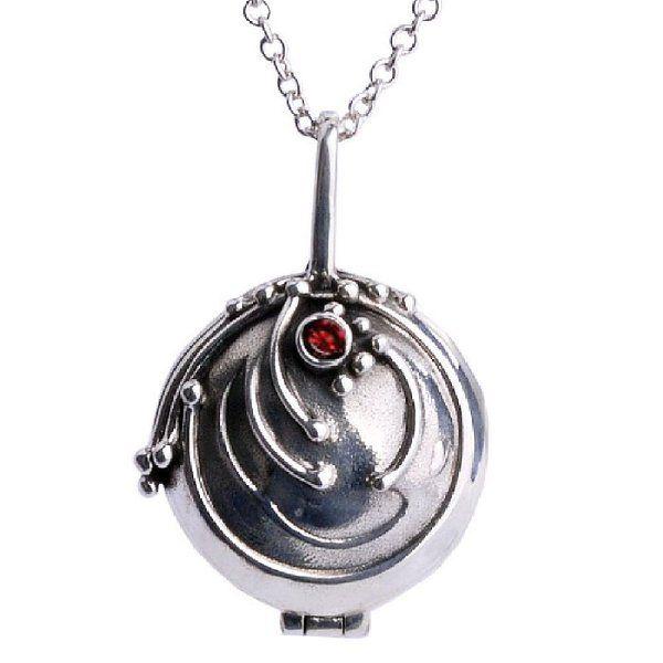 Vampire Diaries Inspired Elena Gilbert Vervain Pendant Crystal Gem Antique Necklace Locket Silver Eo403D1F