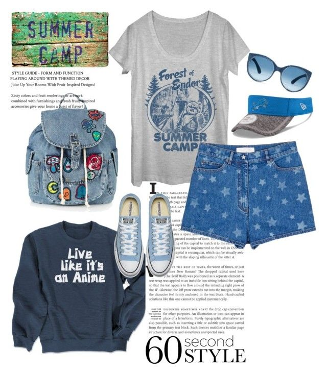 """Senza titolo #5274"" by waikiki24 ❤ liked on Polyvore featuring Valentino, Topshop, New Era, summercamp and 60secondstyle"